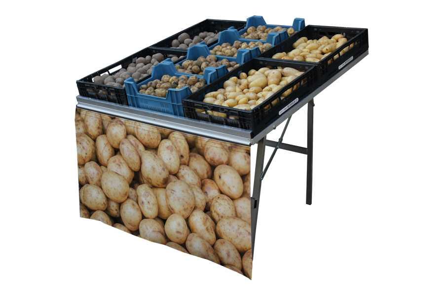 Markttafel Bull Christiaan 120x120cm